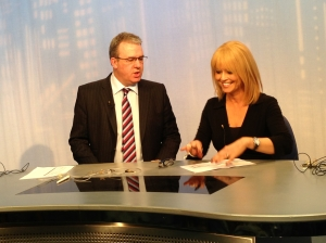 Calendar presenters Duncan Wood and Christine Talbot