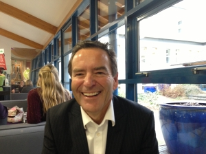 Jeff Stelling meets with our post-grads arriving at Leeds Trinity