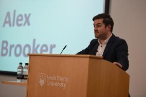 Alex Brooker at Leeds Trinity