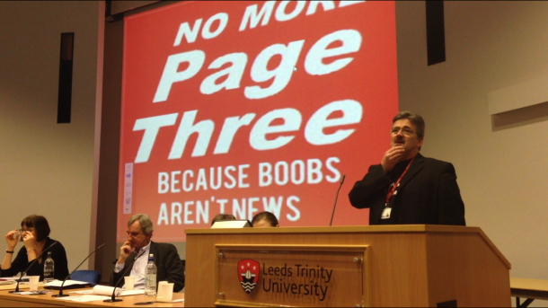 Staff and students at Leeds Trinity University debate The Sun's use of Page 3 models