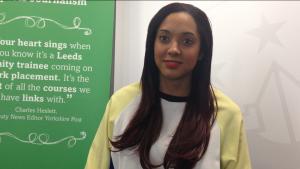 Showbiz reporter Joanna Abeyie