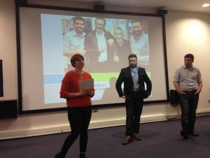 Left to right: Kate Russell from Cosmopolitan with Josh Stead and Dan Lynch from ITV Yorkshire