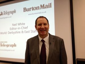 Neil White, editor of the Derby Telegraph