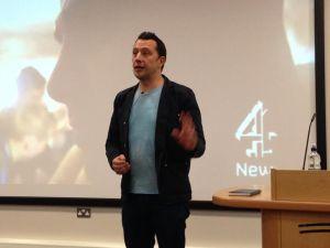 Paraic O'Brien, investigative journalist for Channel 4 News