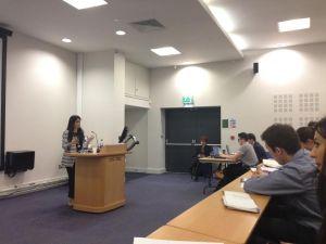 BBC presenter Sonali Shah speaking at Journalism Week