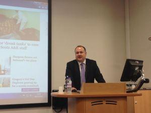 Stephen Rigley, deputy editor of the Sunday Express and ex Leeds Trinity